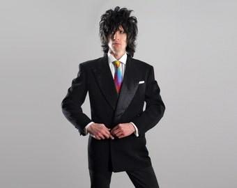 mens vintage tuxedo jacket 30s 40s mens tux jacket 1930 1940 double breasted peak lapel Howard Clothes 39 40 39R 40R