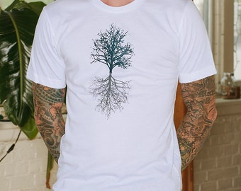 Tree Tshirt, Hiking Tee, Camping Shirt, S,M,L,XL,XXL