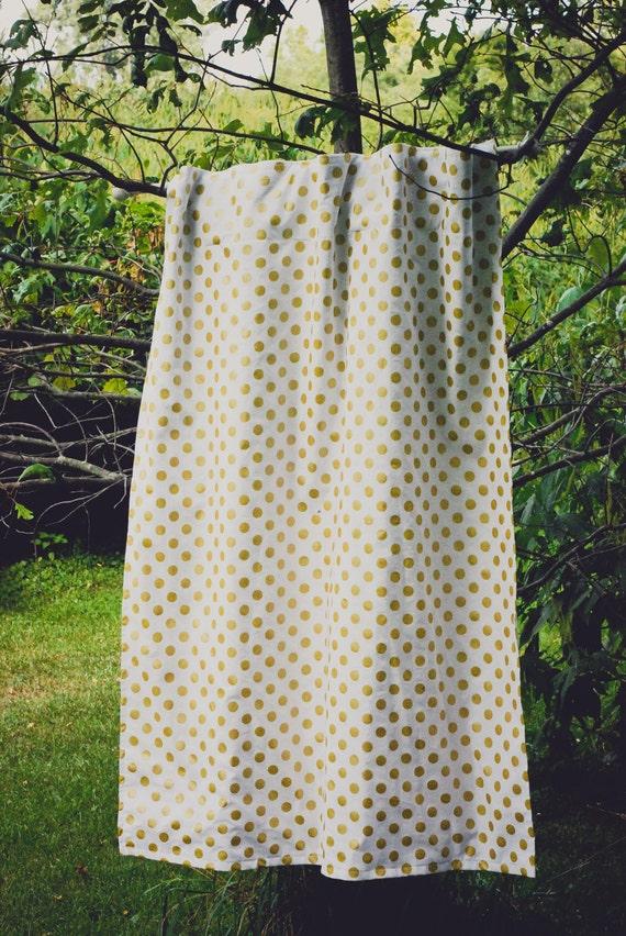 ... Gold Nursery Curtains - Polka Dot - Pink Curtains - Blackout Option