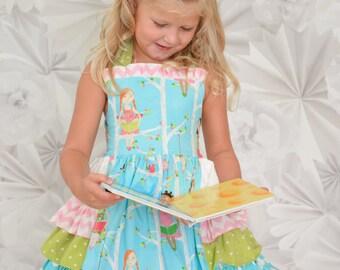 My favorite book girls ruffled dress