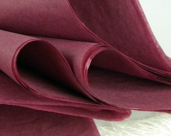 24 Tissue paper Sheets / Sangria Berry / 20 X 30 inches / Tissue sheets / Wrapping Paper Tissue / Packaging Tissue / Holiday Gift Wrap