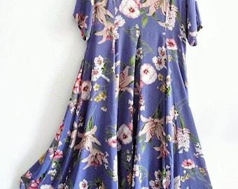 Sale  Bohemian Floral Maxi Dress Plus Size