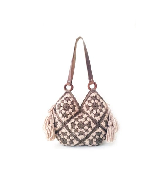 Crochet Fancy Bags : ... crochet bag, shoulder handbag, boho crochet bag, fancy crochet bag
