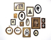 Collection of Vintage Portrait Photographs and Silhouettes