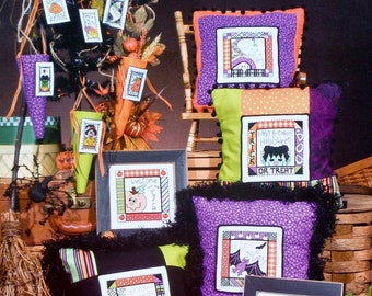 Stoney Creek Collection | HALLOWEEN TRICKS & TREATS | Bat | Witch | Ghost | Multiple Designs | Counted Cross Stitch Pattern Chart Booklet