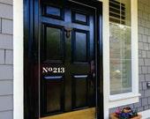 Front Door Number Decal - Street Number Door Decal - House Address Number Door Decal