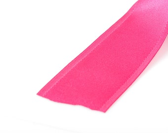 "1-1/2"" inch wide HOT PINK Double Faced Satin Ribbon with Grosgrain Edge, 2 yards (6 feet)  rib0115"