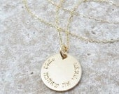 Hebrew Necklace - Song of Songs 3:4 - I have found the one whom my soul loves - Hebrew Jewelry - Custom Hebrew - Bible Verse Jewelry