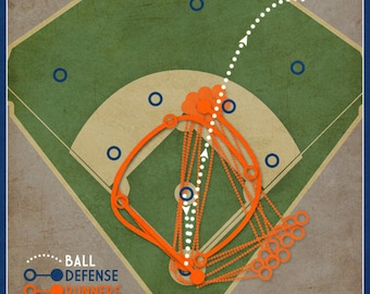 "Mets Baseball Print ""Grand Slam Single"" Infographic Mets Robin Ventura Baseball Poster"