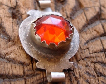 Moroccan red glass jewel
