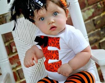 Over The Top Bow -- Halloween Bow  -- orange black jack-o-lanterns