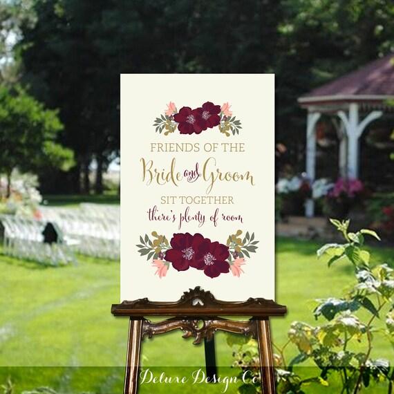 Debenhams Wedding Service Gift List Number: Ceremony Seating Sign // Wedding Sign PRINTABLE // Sit