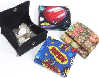 PDF Sewing Pattern, Folding Coin Pouch, Coin Purse, Wallet, Change purse, Gift card holder,  Scrap buster