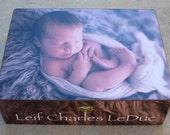 Personalized Photo Keepsake Box, Custom Baby Keepsake Box, Photo Memory Box, Unique Memorial Keepsake Box, Photo Gift, NEW Larger Size