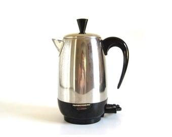 Farberware Superfast Coffee Pot Electric Percolator 138-B Made in USA Coffee Makers