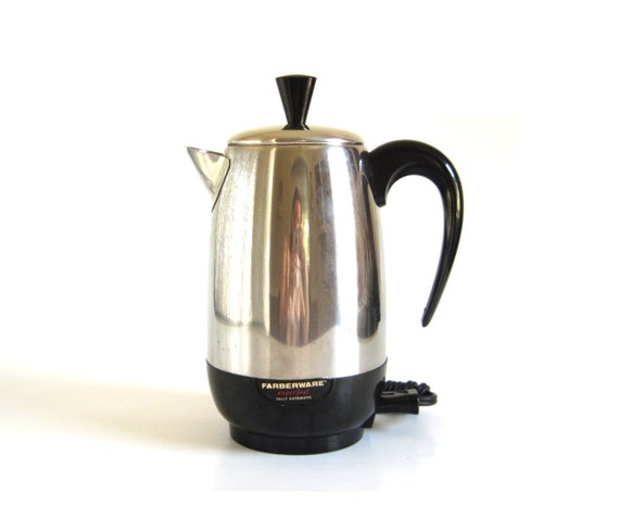 Electric Percolator Coffee Maker Reviews : Farberware Superfast Coffee Pot Electric Percolator 138-B Made