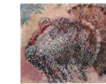 """M. Larionov """"Turkey"""" Print, Postcard -- 1981, Izobrazitelnoye Iskusstvo Publ."""