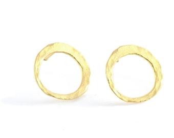 Small Gold Earring, stud earrings, stud earrings gold, post earrings, gold earrings, urban earrings, minimalist earrings, golden studs