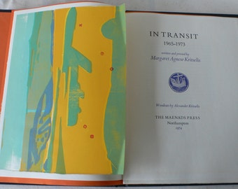 vintage book, In Transit 1965-1973, written and printed by Margaret Agnew Kritselis, Alexander Kritselis,from Diz Has Neat Stuff