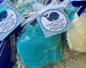 25 WHALE SOAPS {Favors} - Nautical themed Birthday, Whale Boat Soaps, Baby Shower, Navy Blue, Pink, Wedding Soap Favors