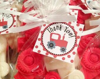 20 TRACTOR SOAPS {10 Favors} -  Transportation Birthday, Tractor Baby Shower, Construction Birthday, Farm