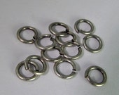 30 Matte Antiqued Silver 6mm Open Jump Rings Mt273