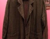 Vintage FLAX by Jeanne Engelhart linen green blazer/coat