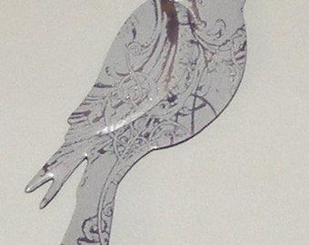 Bird Magnet - White Silver Soda Can (Replica)