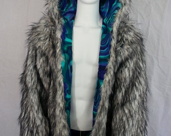 Playa Coat twisted blue wolf
