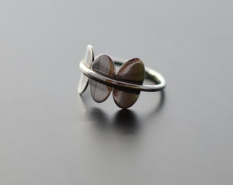 Minimal Ring, Sterling Silver, Wings, Modern, Fun, Contemporary