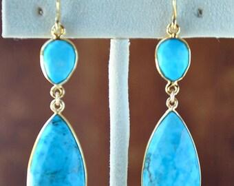 SALE Turquoise Earrings - December Birthstone Genuine Turquoise Jewelry