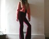Velvet bell bottom flares hippy boho festival pants