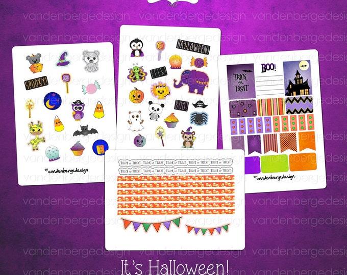 Planner Calendar Stickers- It's Halloween!-Perfect for the Erin Condren Planner!