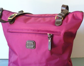 Brics Fuschia Nylon Tote Bag