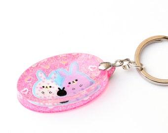 Pink Cute Animals Keychain