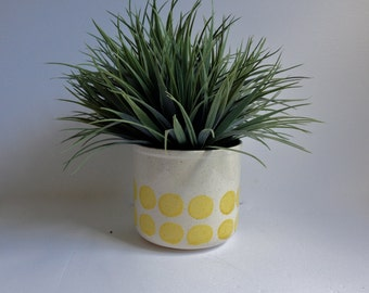 Polka Dot Stoneware Planter