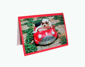 Miniature Toy Poodle Card, Blank Dog Card, New Driver Card
