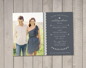 Wedding Couples Shower Invitation DIY (Printable) by Vintage Sweet