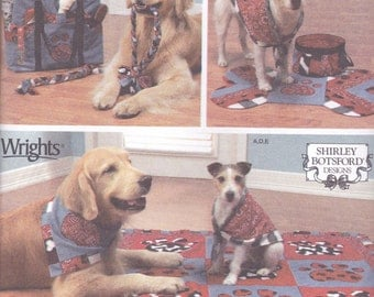 Dog Tote, Blanket, Chew Toy & Kerchief Pattern Simplicity 4061 Uncut