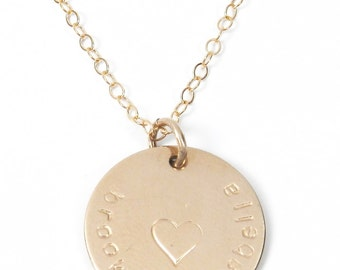 The Gretchen handstamped necklace.