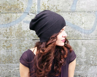 Merino hat in espresso- beanie- women's hat, knit hat, present for her