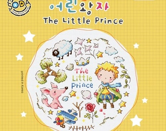 The Little Prince, Le Petit Prince, cute modern cross stitch pattern, sodastitch, counted cross stitch, patter or kit