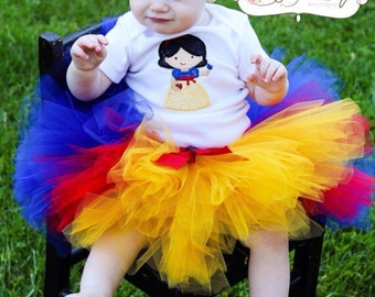 Snow tutu, Baby Tutu, princess tutu, Photo Prop Tutu, Childrens Toddler, Snow White birthday, Halloween costume