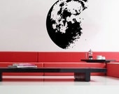Outer Space Moon - uBer Decals Art Sticker Removable Wall Decal A848