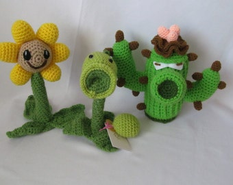 Plants vs. Zombies crochet toys