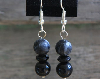 Perfect Black and Grey Drop Earrings