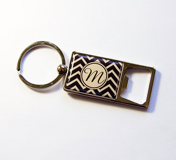 monogram keychain bottle opener bottle opener key by kellysmagnets. Black Bedroom Furniture Sets. Home Design Ideas