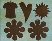5 Pcs Fun in the Sun Altered Blank Sampler Pack - Vintaj Natural Brass OS
