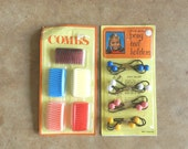 80's COLORFUL HAIR ACCESSORIES - Set of 6 Combs / Set of 4 Pony Tail Holders / Retro / Kawaii / Cute / Colorful