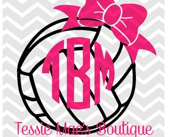 Volleyball Bow Digital Design for Instant Download